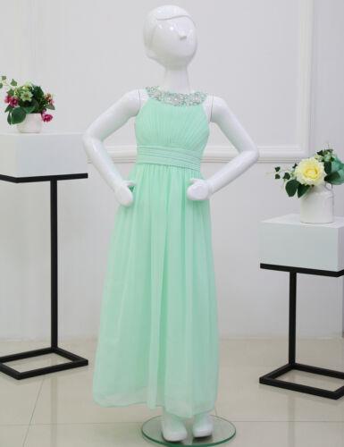 US Flower Girl Dress Kids Pageant Wedding Bridesmaid Holiday Formal Long Dresses