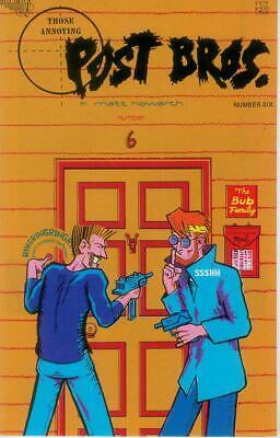 Haben Sie Einen Fragenden Verstand Those Annoying Post Bros. # 6 (matt Howarth) (vortex Canada, 1987) Reinweiß Und LichtdurchläSsig