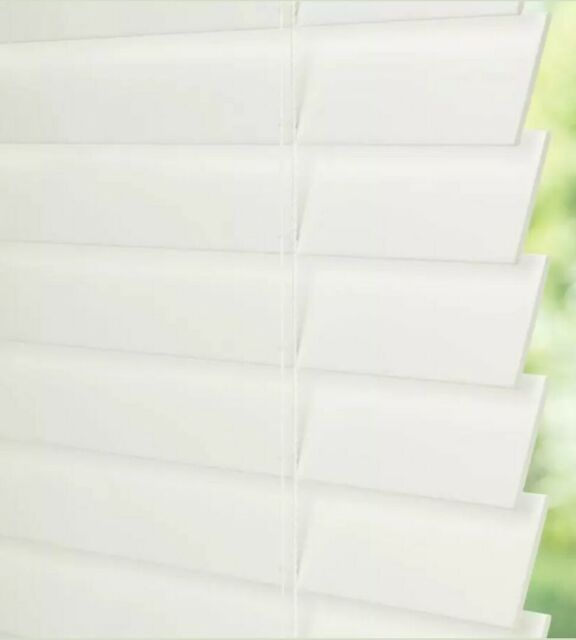 Levolor 2 In White Faux Wood Blinds Precut To 20 X 64 Inches No Hardware 929636 For Sale Online