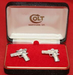 COLT-Firearms-Factory-1911-Government-70-Series-Cuff-Links-Silver-Plate