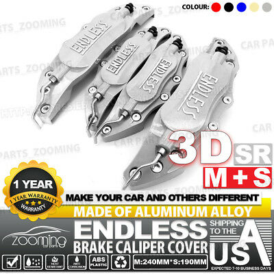 Metal 3D ENDLESS Universal Style Brake Caliper Cover front/&rear 4pcs Red LW03