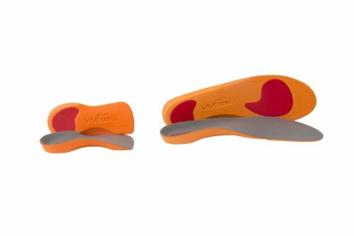 1 pair of each Vivesole full length and 3//4 slim fit orthotic insoles