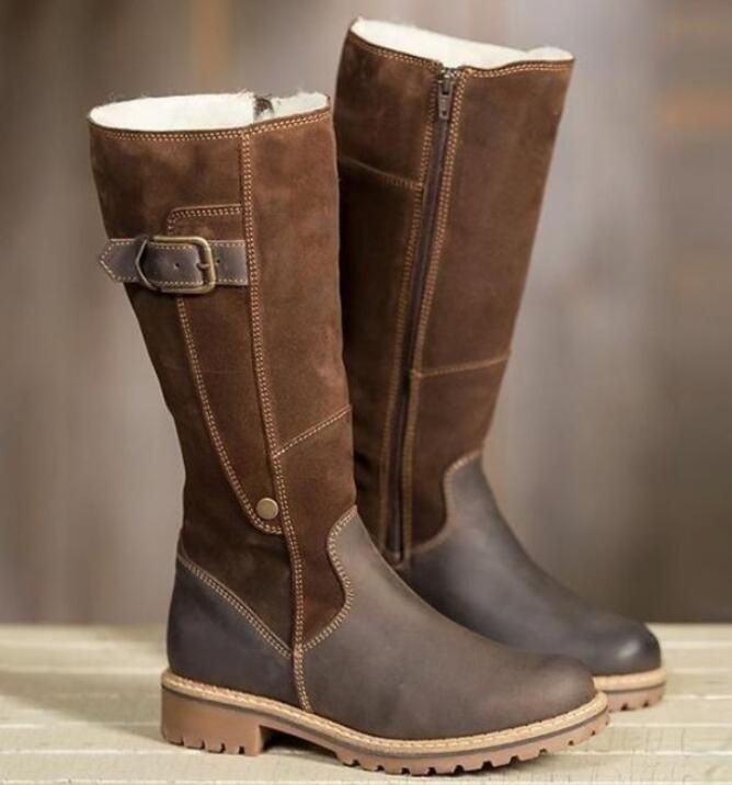 Womens Vintage Combat Student Sz35-41 Mid Calf Boots Retro Flat Heel shoes Uk