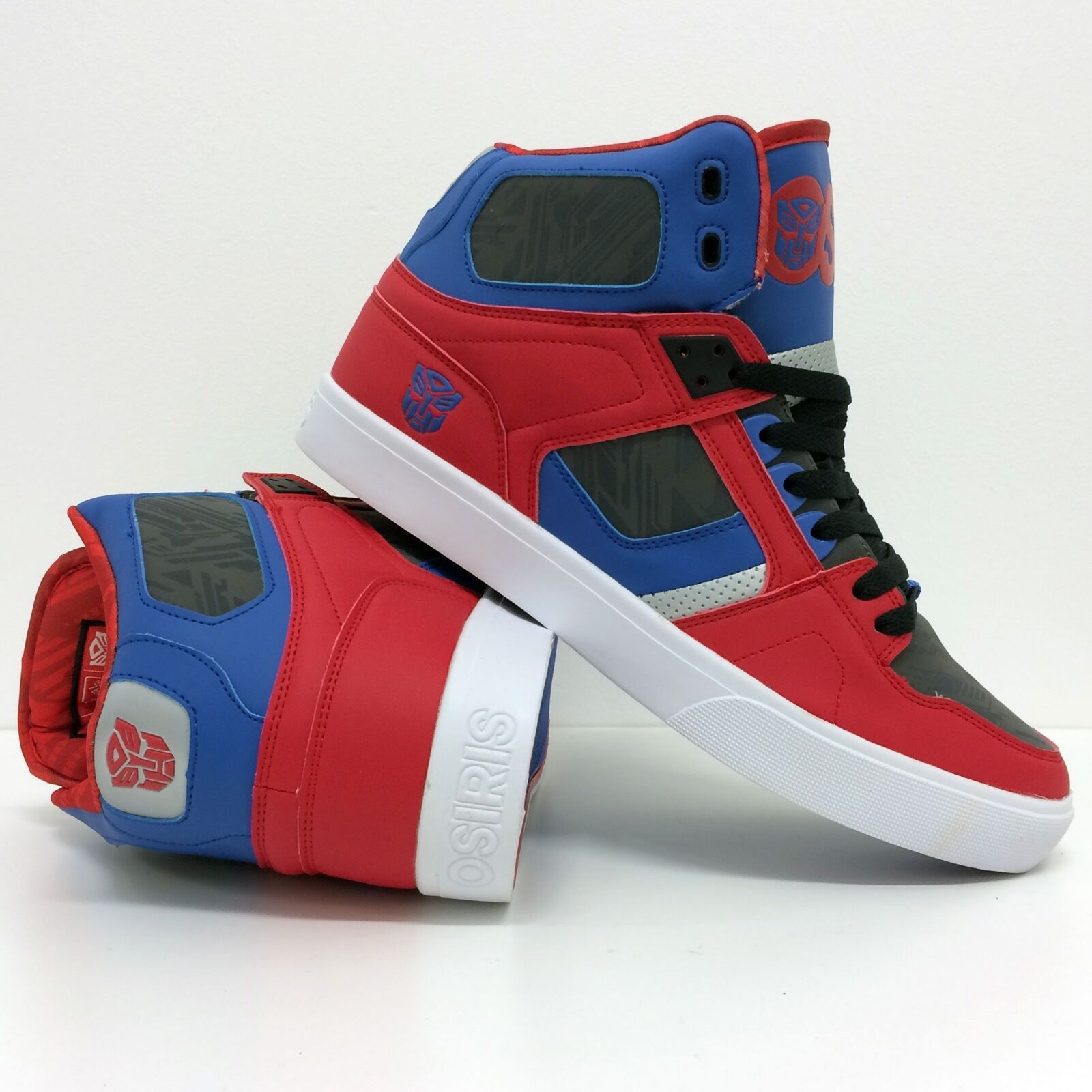 OSIRIS SHOES TRANSFORMERS NYC 83 RED VLC OPTIMUS PRIME  RED 83 BLUE HI TOP TRAINERS de3ab2