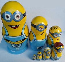 Minions matrioska matriosca di legno bambole impostare i personaggi del film 7pc
