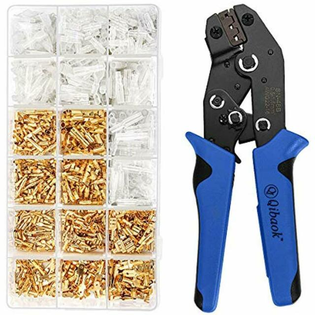 Crimpers Crimper Plier Ferrule Crimping Tool Ratchet Kit Set 1200pcs Wire Ends