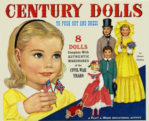 VINTAGE 1960 CENTURY PAPER DOLLS ~Platt Munk LASER REPRODUCTION~ORG SIZE UNCUT