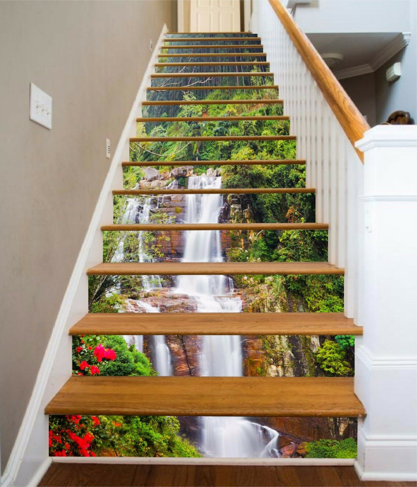 3D Steep Creek 791 Stair Risers Decoration Photo Mural Vinyl Decal Wallpaper AU