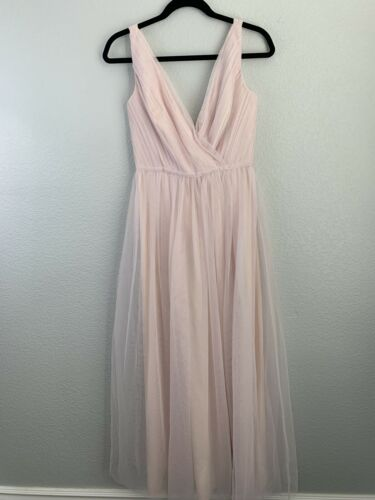 Monique Lhullier Bridesmaids Shirred Tulle Pink La