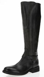 Vince-Camuto-200117-Farren-2-Dark-Gray-Leather-Knee-High-Tall-Boots-Size-7-M-New