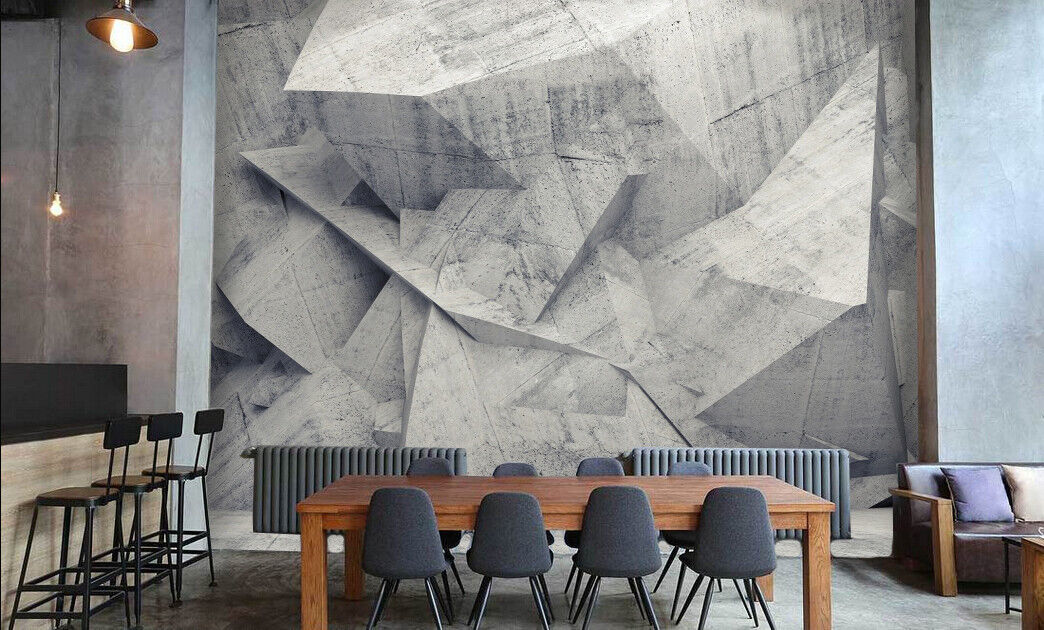 3D greyer Stein 553 Tapete Tapeten Mauer Foto Familie Tapete Wandgemälde DE