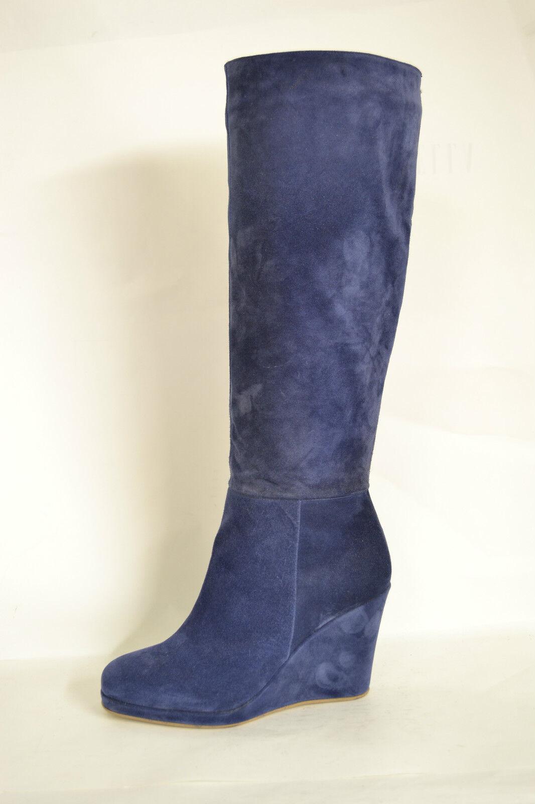 Grandes zapatos con descuento SCARPE STIVALI DONNA ZEPPA VERA PELLE CAMOSCIO BLU ARTIGIANALI TAGLIE DA 34 A 42