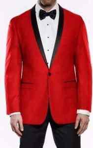 cc9ba81ecbb New Mens Red & Black Tuxedo Dinner Jacket Holiday Gift Christmas ...