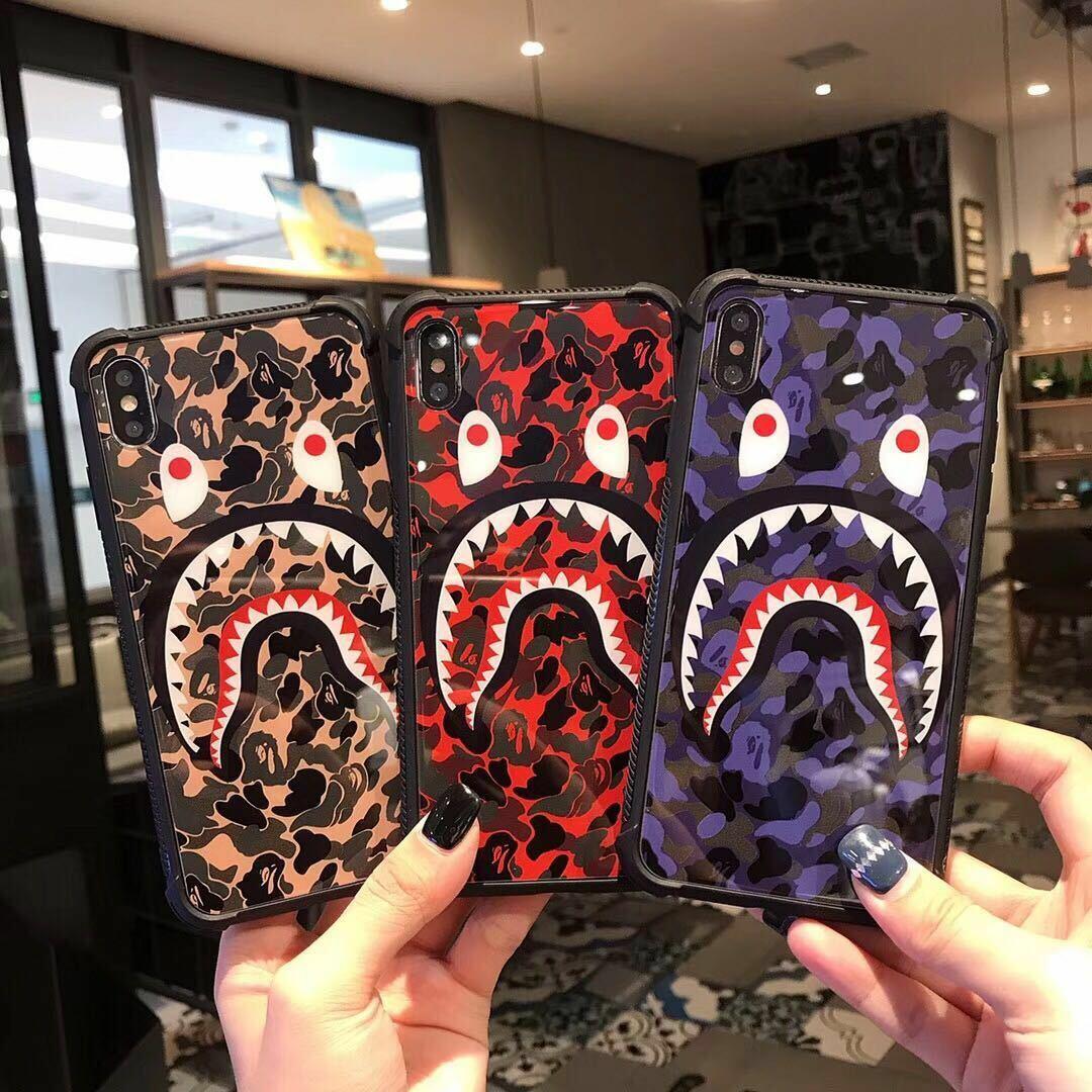 A Bathing Ape Bape ABC Camo Shark Phone Case Cover For iPhon