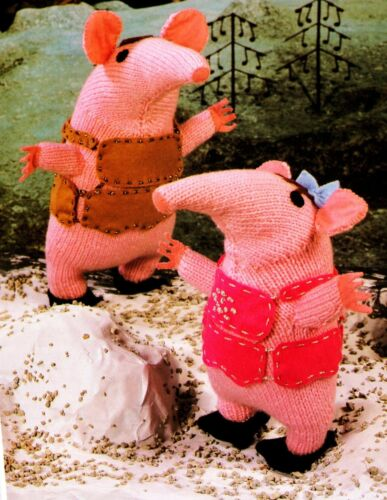 Large and Small Toy Knitting Pattern Patons 4970 DK Clanger