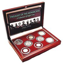 Twilight Of The Monarchies 1900-1974 A Collection of 8 Coins, Beautifly Boxed