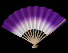 Japanese Geisha ODORI Dancing Hand Held SENSU Folding Fan Purple, Made in Japan