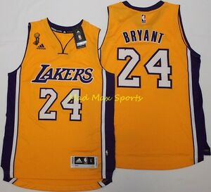 c0efe1a65923 KOBE BRYANT Los Angeles Lakers NBA FINALS Gold THROWBACK Swingman ...