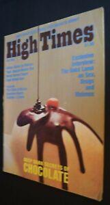 MB-129 High Times Magazine Oct Nov 1975 Issue Dark Secrets of Chocolate, More