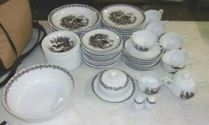 Porzellan Munchen Pattern PMM1 Dinnerware 67 pieces German Wildlife REDUCED