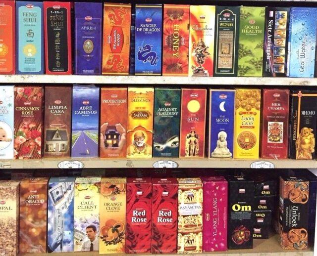 HEM INCENSE LARGE SELECTION 120 Sticks Box of Six Hem Tube Pick your Favorite