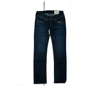 Pepe Jeans Venus Ladies Low Waist Trousers Stretch Straight Leg W29 L32 Navy Ebay
