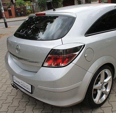 Vauxhall OPEL Astra H  05-10 GTC REAR eyebrows  ABS plastic headlight spoiler