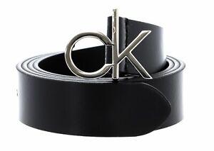 Calvin Klein Logo Belt W90 Gürtel Accessoire CK Black Schwarz Neu