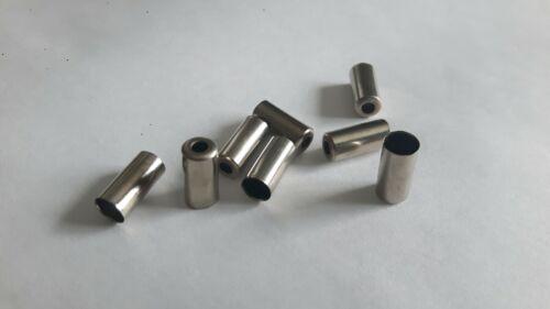8 PROMAX Endkappen 5mm silber für Fahrrad Bremszugaußenhülle Bowdenzüge