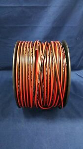 14 GAUGE 200 FT RED BLACK ZIP WIRE AWG CABLE POWER GROUND STRANDED COPPER CAR