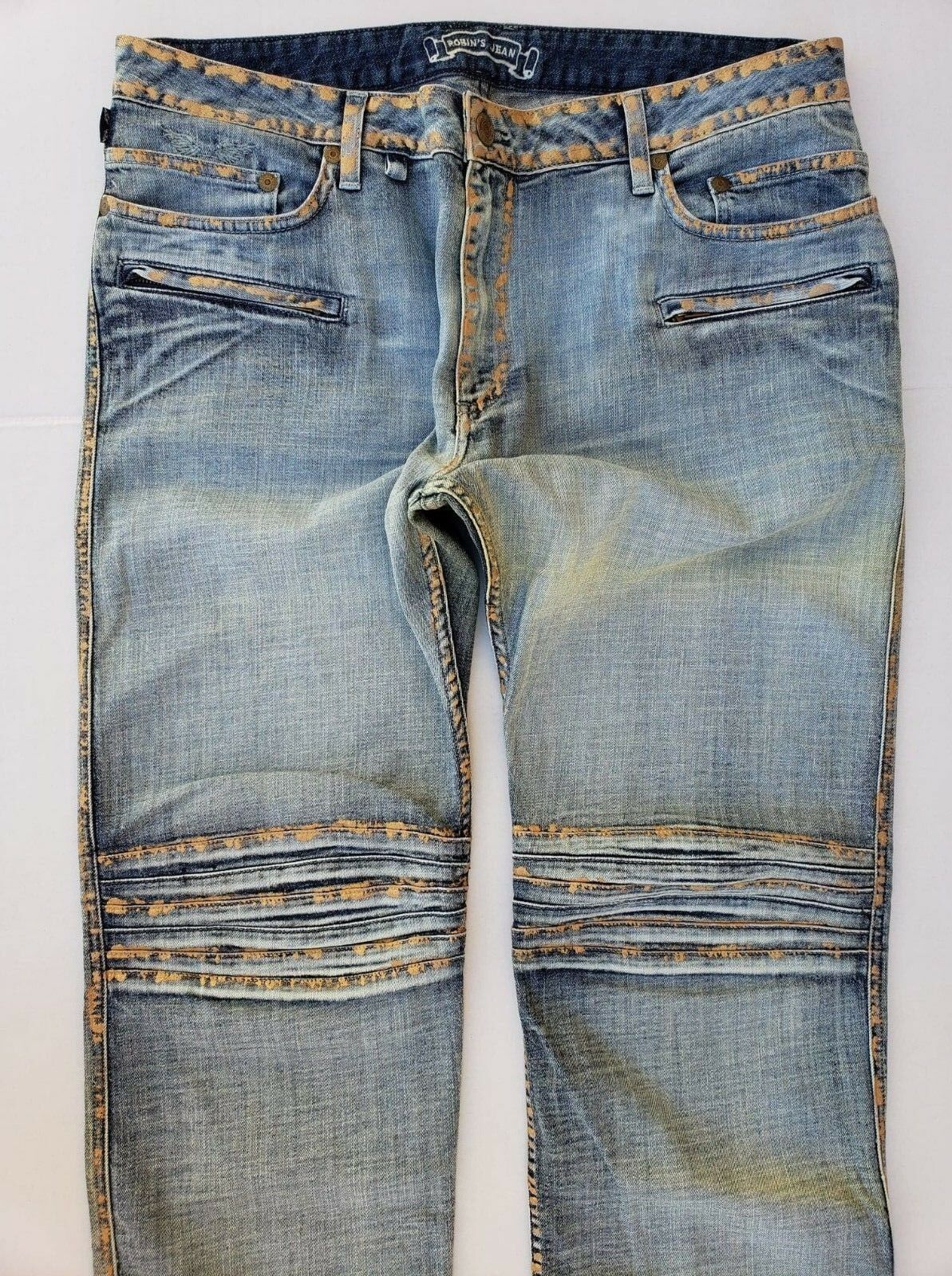 Nuovo da da da Uomo di ROBIN Jeans Taglie 44 Motard Slim Jeans Dritto  SPACE5475CC 8ac2f2