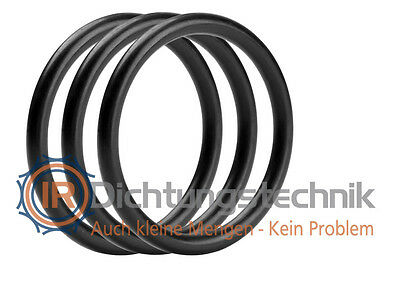 O-Ring Nullring Rundring 43,0 x 3,5 mm NBR 70 Shore A schwarz 5 St.
