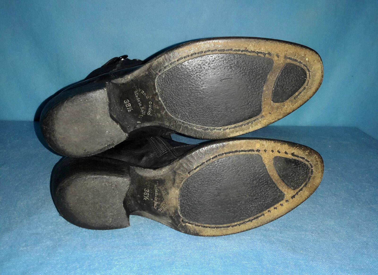 Stiefel GIARDINI NERO GIARDINI Stiefel 100% schwarzes Leder Größe 38,5 FR 109955