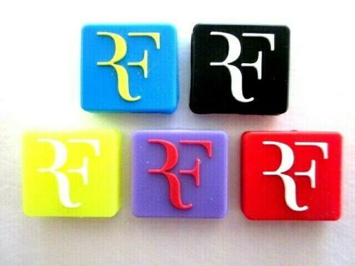 5 Tennis Vibration Shock Absorber Dampeners Roger Federer RF Fed Express Rog