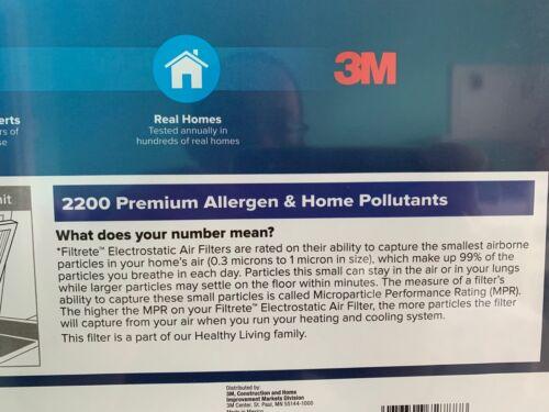 20 x 20 x 1 3 pack 3M Filtrete Premium Allergen and Home Pollutants 2200