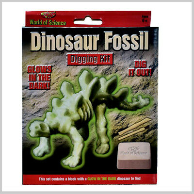 World Of Science Glow in The Dark Dinosaur Fossil Digging Kit