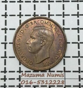 Mazuma *FC05 Great Britain 1938 George VI Half Penny UNC RB