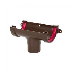Freeflow-Half-Round-UPVC-Downpipe-Gutter-Running-Outlet-Brown-FRR605-40R85