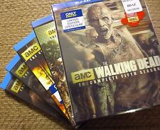 THE WALKING DEAD Complete Season 1-5 Blu-ray LENTICULAR SLIP Sets Exclusive NEW!