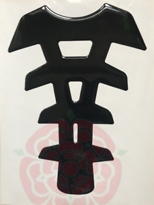 Black Motorcycle Tank Pad Protector # Motorbike Spine Oxford Sticker Transparent