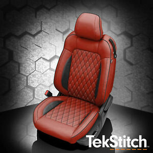 Image Is Loading KATZKIN TEKSTITCH RED LEATHER INT SEAT COVERS FITS
