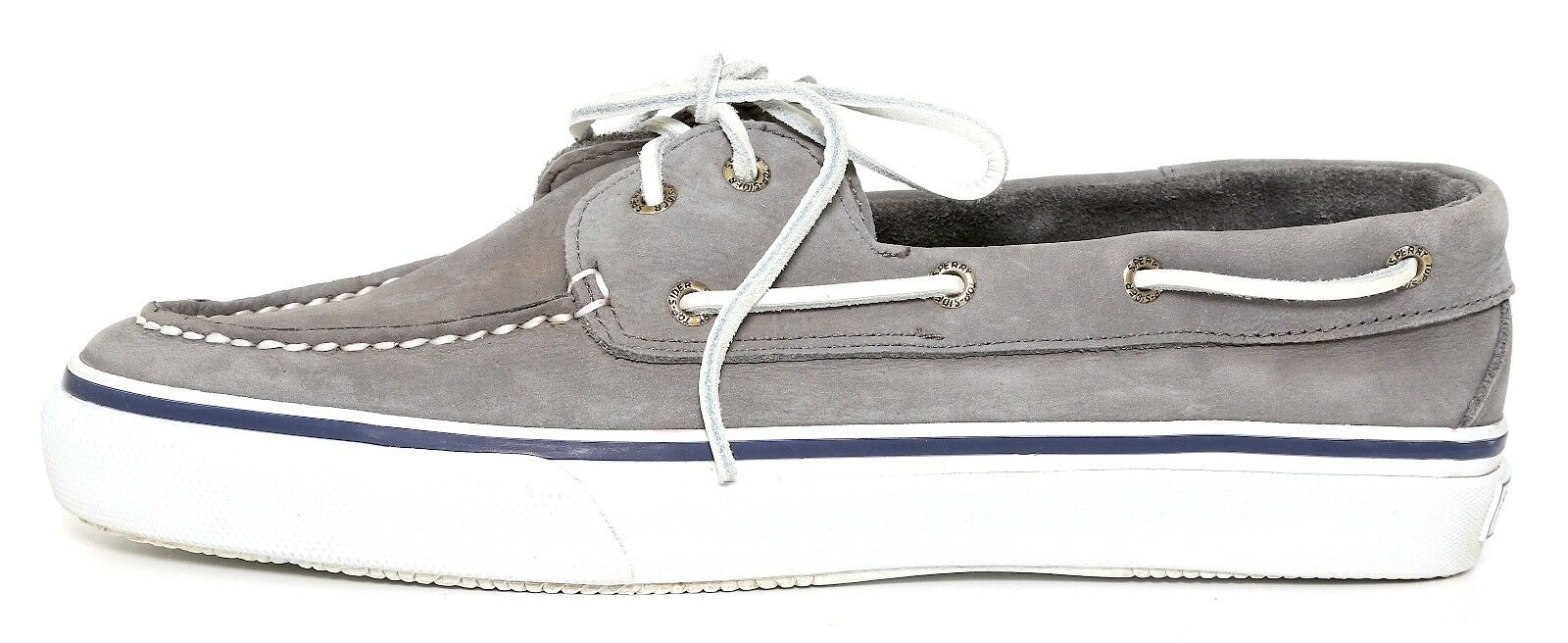 Sperry Top Sider Slip On Shoes Grey Uomo Sz 11.5 M 1218