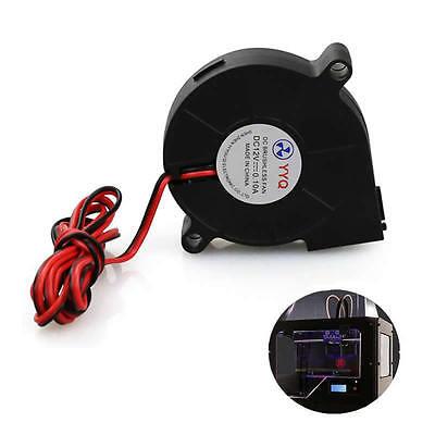 HK JN/_ DC 12V 50mm Cooling Fan Blow Radial Hotend Extruder For RepRap3D Printer