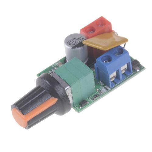 1X Mini DC 5A Motor PWM Drehzahlregler 3-35V Drehzahlschalter LED Dimmer Kw