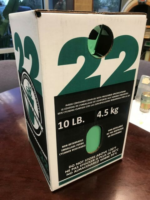 R-22 Refrigerant 10lb, USA, New Sealed Cylinder, Free Shipping Cont US AK & HI+$