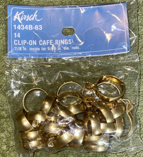 """Vtg 14 Kirsch 1434B-63 Clip-On Cafe Rings 7//8"""" Inside For 9//16"""" Rods"""