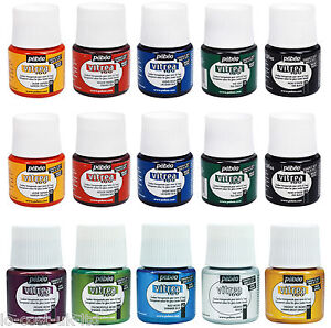 PEBEO-VITREA-160-GLASS-PAINTS-GLOSSY-FROSTED-SHIMMERING-MEDIUMS-45ML-OVEN-BAKE