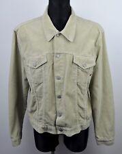 TOM TAILOR Corduroy Unlined Over Shirt Jacket Men's 2XL Cords Beige Western vtg