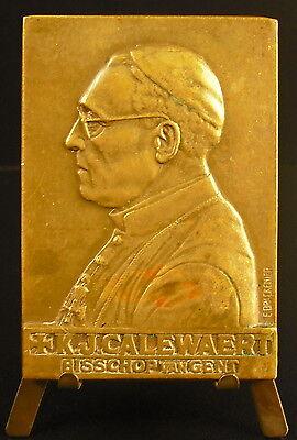 Gehoorzaam Medaille Jk Calewaert Eveque De Gant Bishop Van Gent Belgique Belgium 1958 Medal