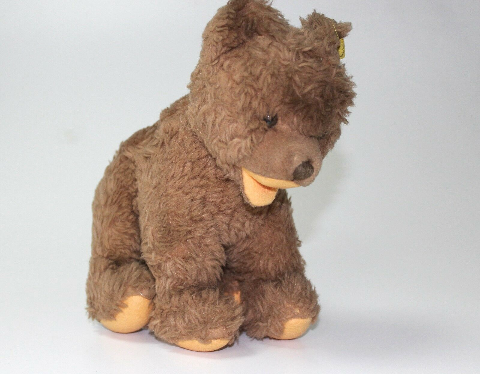 OLD VINTAGE STEIFF TEDDY Marrone BEAR PLUSH TOY GERMAN bianca   BUTTON EAR H 22 CM